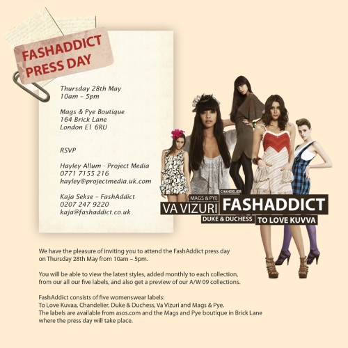 FashAddict Press Day