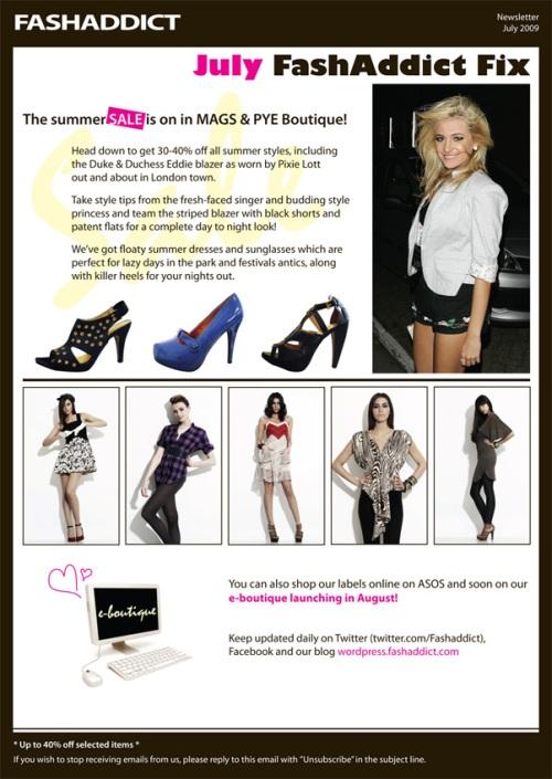 FashAddict's July Fashion Fix Newsletter