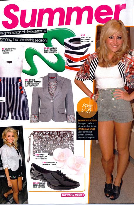 Pixie Lott Duke & Duchess Now Magazine