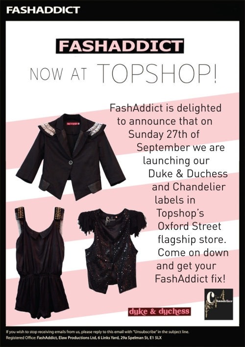 Fash Addict Topshop Mail Out