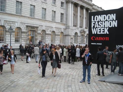 London Fashion Week Crowd