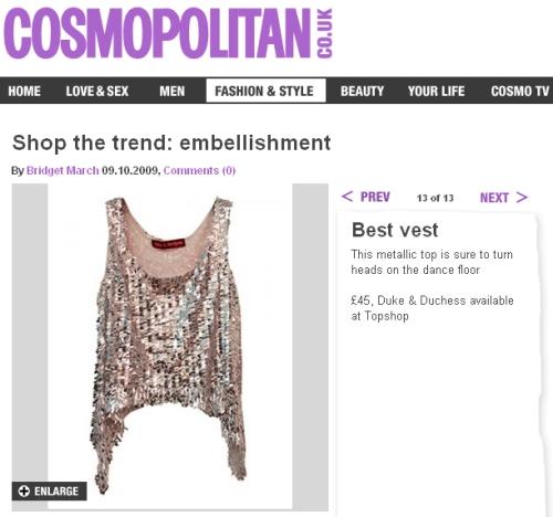 2009 October Cosmo Online 1