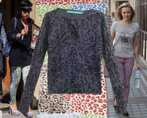 To Love Kuvaa 'Amy' Leapord Print Cardigan Fearne Cotton Lily Allen