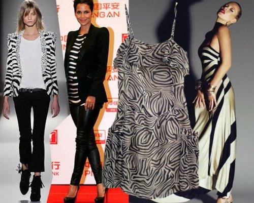 Duke & Duchess 'Marcelle' Zebra Dress Balmain Kate Moss Halle Berry