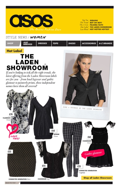 2009 November 9th Asos Newsletter