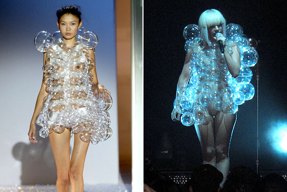 mini-dress recently copied by Lady GaGa